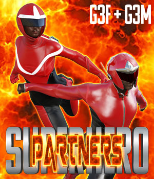 SuperHero Partners for G3F and G3M Volume 1 3D Figure Assets GriffinFX