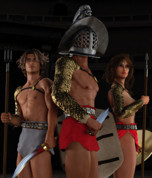 Gladiator for Genesis 3 Male and Female 3D Figure Assets 3D Models Deacon215