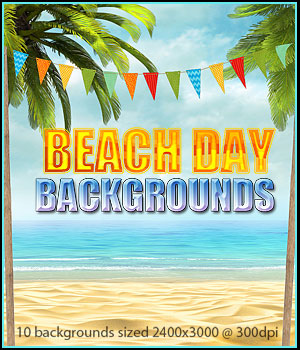 FS Beach Day Backgrounds 2D Graphics FrozenStar