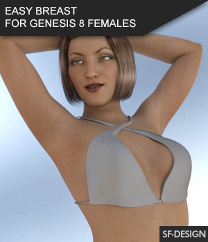 EASY BREAST FOR GENESIS 8 FEMALES 3D Figure Assets SF-Design