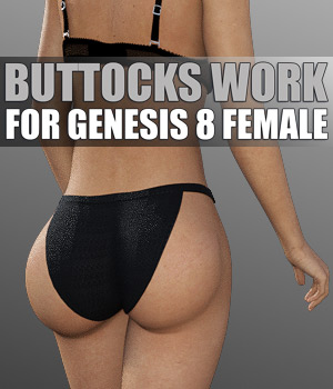 Buttocks Work G8F 3D Figure Assets powerage