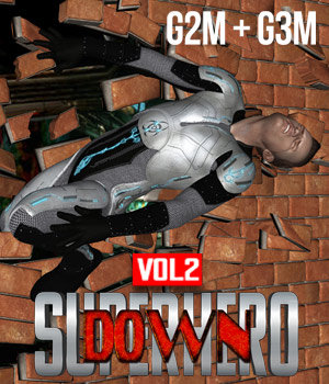 SuperHero Down for G2M & G3M Volume 2 3D Figure Assets GriffinFX
