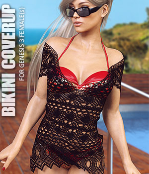 Bikini Coverup for Genesis 3 Females 3D Figure Assets lilflame