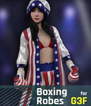 Boxing Robes G3F for Genesis 3 Female 3D Figure Assets gravureboxing
