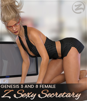Z Sexy Secretary - Poses for Genesis 3 and Genesis 8 Female(s) 3D Figure Assets Zeddicuss