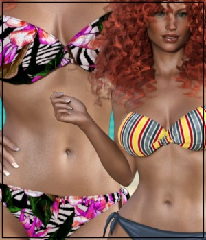 7th Ave: Bandeau Twist Bikini for Genesis 8 Female 3D Figure Assets 3-DArena