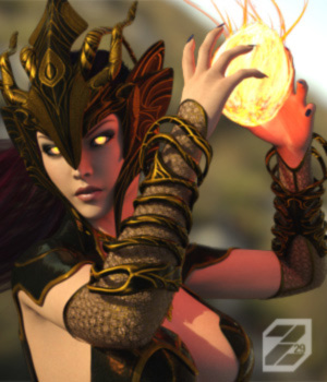 Draconic Rising for Genesis 3 Female 3D Figure Assets zakiel29