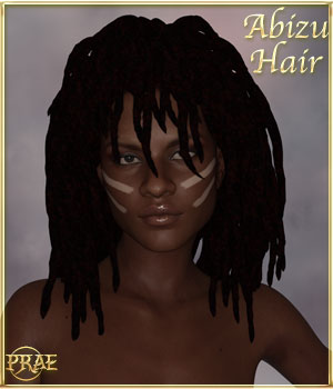 Prae-Abizu Hair for G3 and G8 3D Figure Assets prae