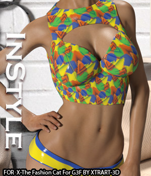 InStyle - X-The Fashion Cat for Genesis 3 Female(s) 3D Figure Assets -Valkyrie-