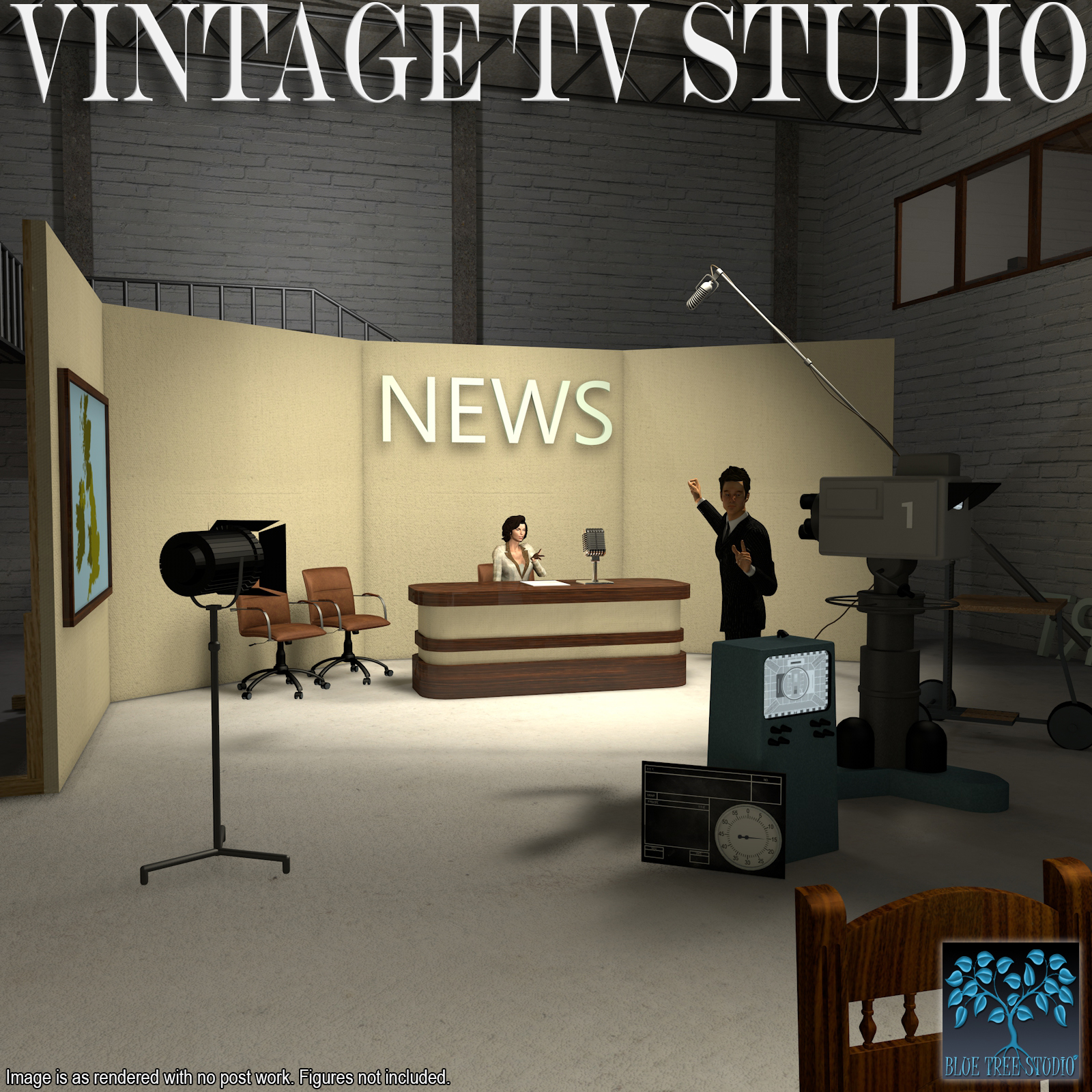 Vintage TV Studio by BlueTreeStudio