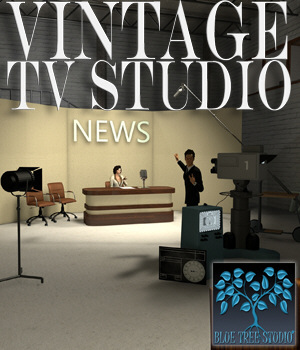 Vintage TV Studio 3D Models BlueTreeStudio