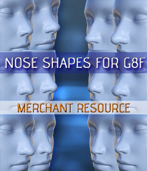 Nose Shapes for G8F - Merchant Resource 3D Figure Assets Merchant Resources Mar3D
