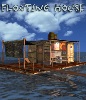 AJ Floating House 3D Models -AppleJack-