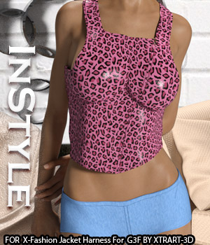 InStyle - X-Fashion Jacket Harness for Genesis 3 Females
