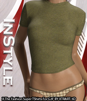 InStyle - X-Fashion Super T Shirts for Genesis 3 Females 3D Figure Assets -Valkyrie-