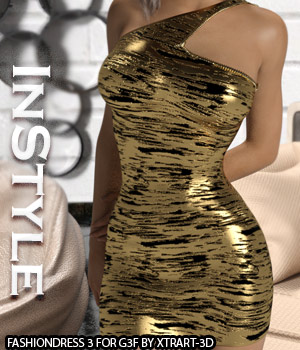 InStyle - FashionDress 3 for Genesis 3 Females 3D Figure Assets -Valkyrie-