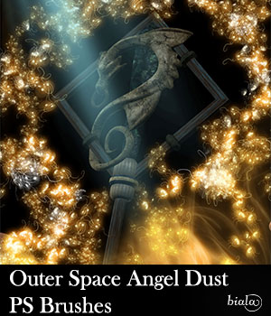 Outer Space Angel Dust PS Brushes 2D Graphics biala
