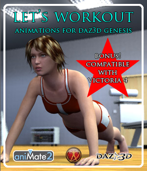 Lets Workout for Genesis 3D Figure Assets ka06059