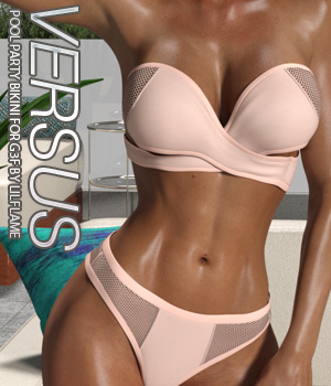 VERSUS - Pool Party Bikini for Genesis 3 Females 3D Figure Assets Anagord