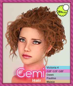 Biscuits Gemi Hair 3D Figure Assets Biscuits
