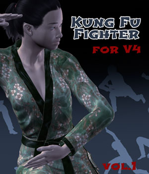 Kung Fu Fighter vol.1 for V4 3D Figure Assets PainMD