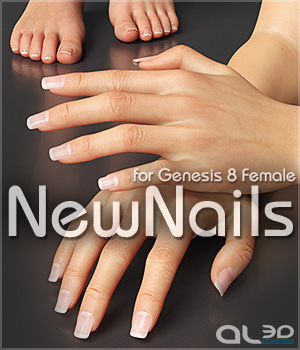 Al3ds NewNails for Genesis 8 Female - Merchant Resource 3D Figure Assets Merchant Resources _Al3d_
