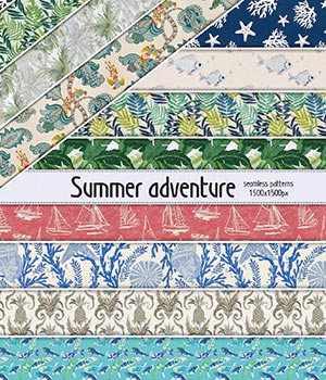 Summer Adventure :: Seamless Pattern