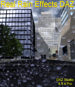 Real Rain Effects DAZ 3D Models JeffersonAF