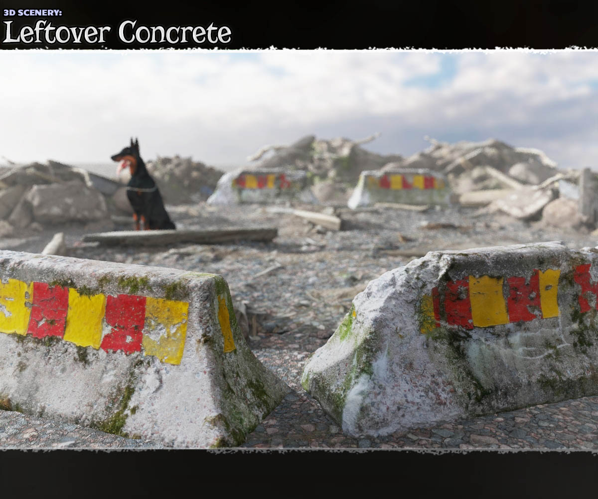 3D Scenery: Leftover Concrete by ShaaraMuse3D