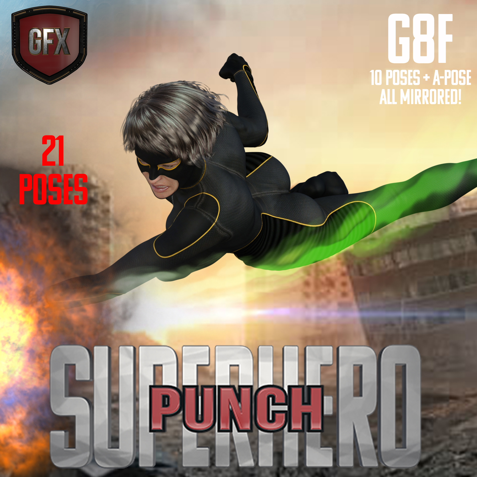 SuperHero Punch for G8F Volume 1 by GriffinFX