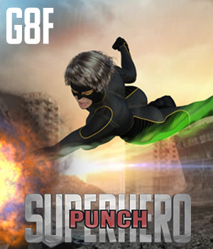 SuperHero Punch for G8F Volume 1 3D Figure Assets GriffinFX
