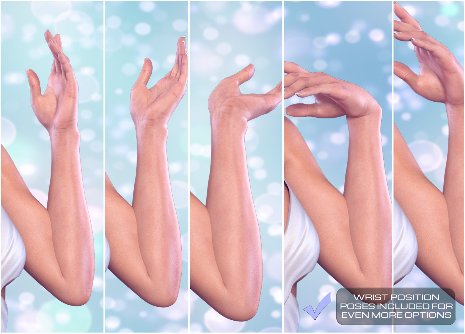 z delicate hands hand poses for the genesis 8 females 3d figure