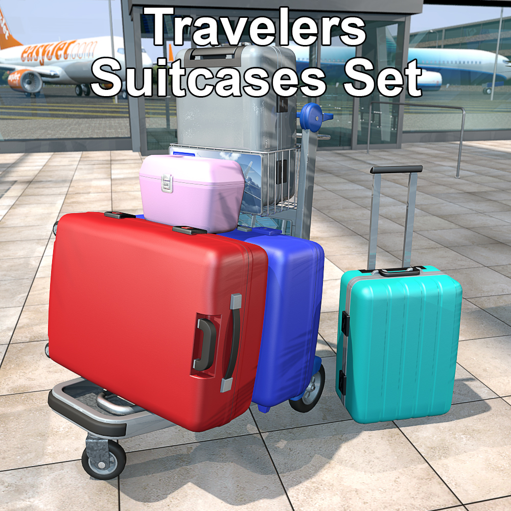 Travelers Suitcases Set by 2nd_World
