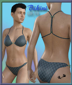 Bikini for GENESIS 8 F / V8 3D Figure Assets zachary
