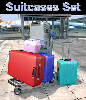 Travelers Suitcases Set - Extended License 3D Models Extended Licenses 2nd_World