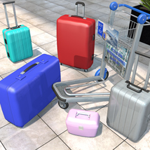 Travelers Suitcases Set - Extended License image 1