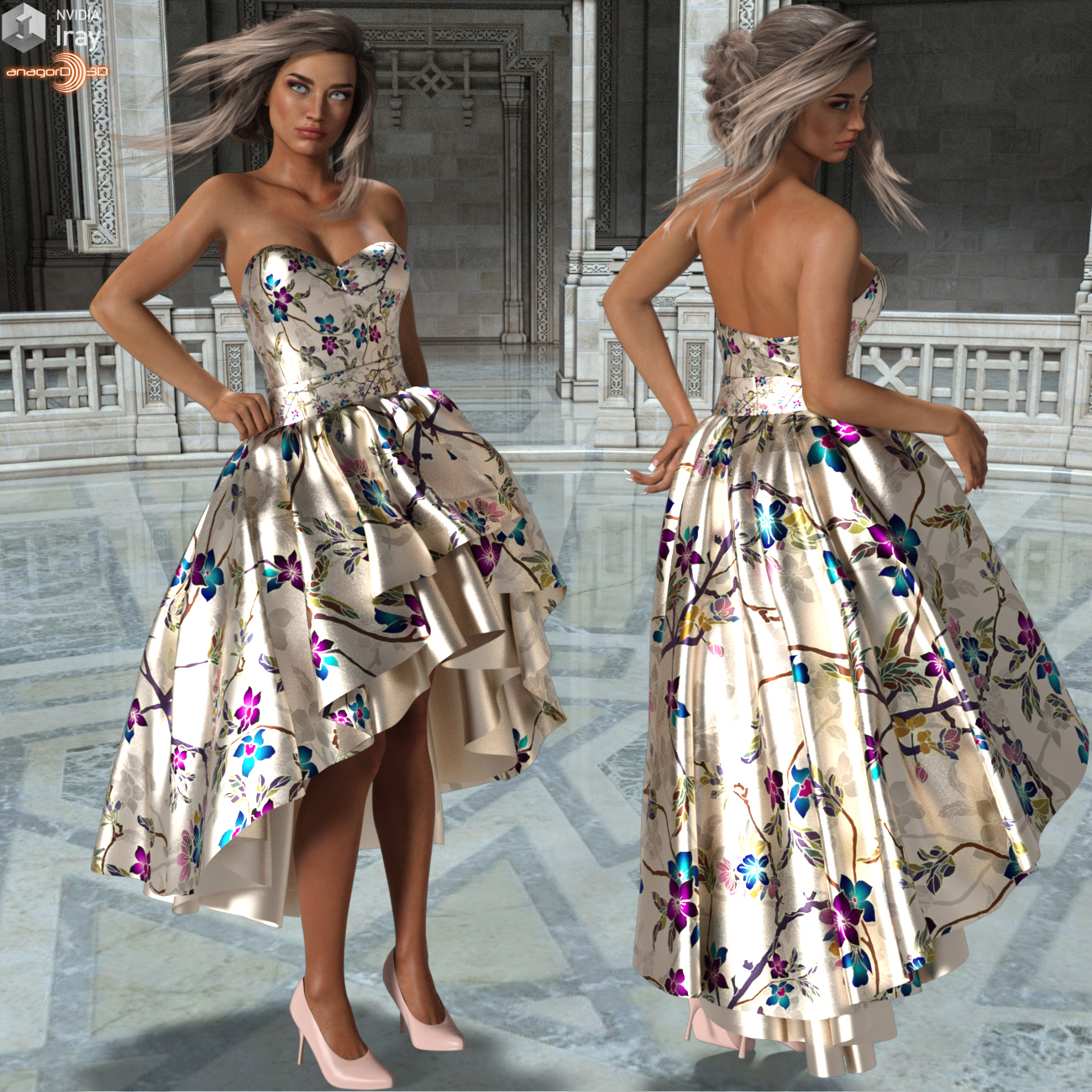 0c16b43cb0e2 VERSUS - Party Gown Outfit for Genesis 3 Female(s) 3D Figure Assets ...