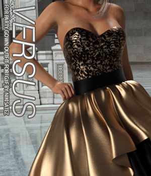 VERSUS - Party Gown Outfit for Genesis 3 Female(s) 3D Figure Assets Anagord