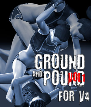 Ground and Pound vol.1 for V4 3D Figure Assets PainMD