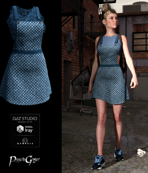 Overall Beauty for Dungaree Jubilee Outfit 3D Figure Assets PsychoGinger