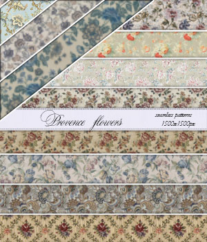 Provence Flowers :: Seamless Pattern 2D Graphics Merchant Resources Cyrax3D