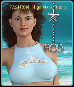 FASHION: High Neck Bikini 3D Figure Assets ArtOfDreams