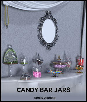 Candy Bar Jars for Poser 3D Models 3D_Style