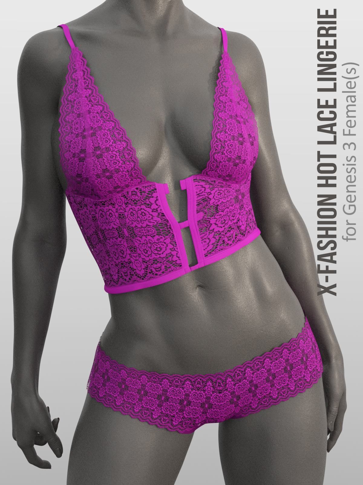X-Fashion Hot Lace Lingerie for Genesis 8 Females