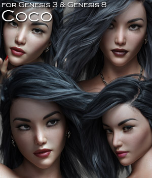 Coco for the G3 and G8 Females 3D Figure Assets Rhiannon