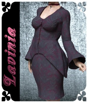 Lavinia Dress for G3F & G8F 3D Figure Assets chasmata