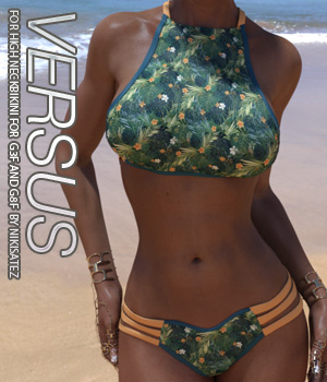 VERSUS - High Neck Bikini for Genesis 3 and Genesis 8 Females 3D Figure Assets Anagord