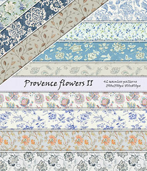 Provence Flowers II :: Seamless Pattern 2D Graphics Merchant Resources Cyrax3D