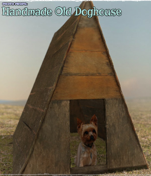 Photo Props: Handmade Old Doghouse - Extended License 3D Models Extended Licenses ShaaraMuse3D