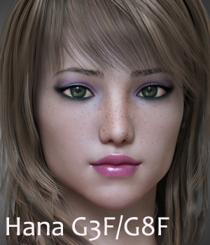 Hana for G3F and G8F 3D Figure Assets Anain